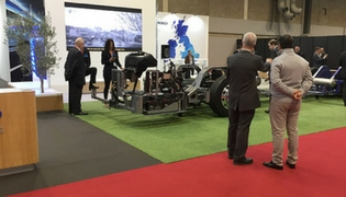 CAETANO Electric Chassis officially presented at  Coach & Bus UK 2017