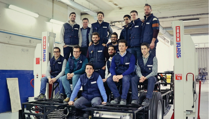 First CAETANO electric chassis has already left the production line