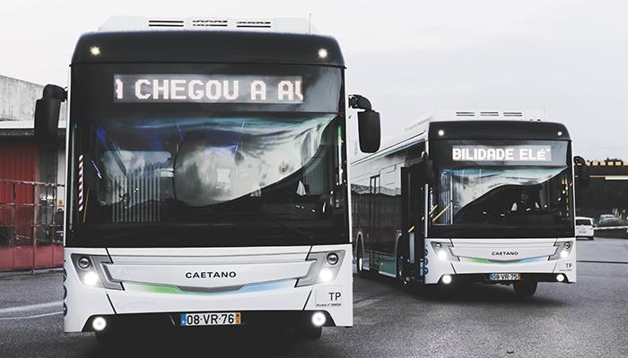 Autocarros elétricos CAETANO chegam a Aveiro