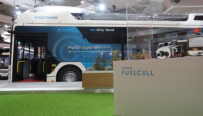 Here is H2.City Gold, the new Caetano hydrogen-powered bus