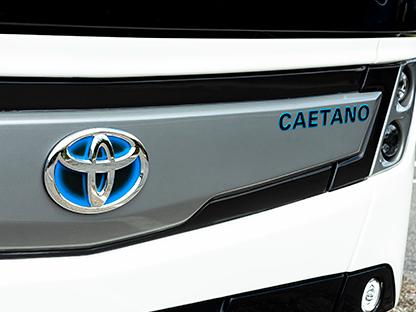Caetanobus: Co-branding with Toyota